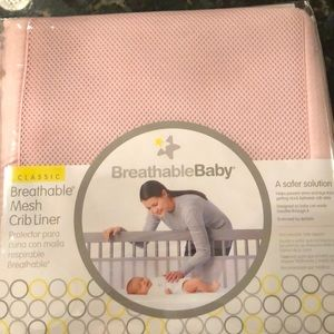Other - Breathable baby mesh crib liner!